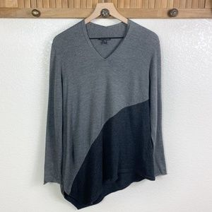 Eileen Fisher Color Block Asymmetrical Sweater
